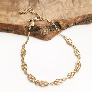 Express gold weave choker necklace